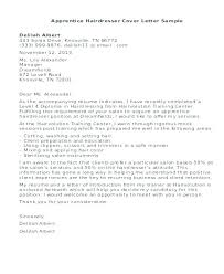 Cover Letter Examples For Hairstylist Hair Stylist Cover Letter