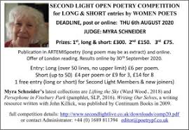 Orbis · Second Light Poetry Competition for Long and Short Poems by Women  2020