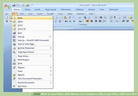 Office 2003 5 Ways To Use Office 2003 Menus And Toolbars In Microsoft