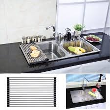 Dish Drying Rack Walmart Awesome Smarit Over The Sink Multipurpose RollUp Dish Drying Rack Walmart