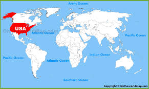 United States Map Of The World Usa United States Location On The World Map