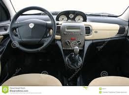 Lancia Y (ypsilon) Interior Stock Image - Image of quick, design ...
