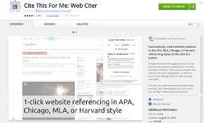 Cite For Me Cite This For Me Web Citation Chrome Extension