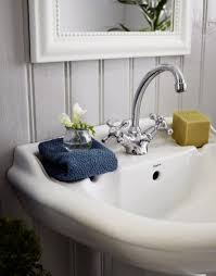 Design Sponge Bathrooms Shabby Chic Bathroom Design Having A Sideboard Dweefcom