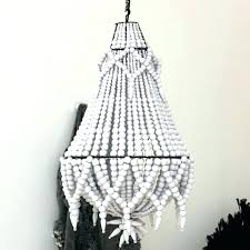 fearsome wood bead chandelier white bead chandelier wondrous large wood beaded grey stained with wire round shocking wood bead chandelier pottery barn