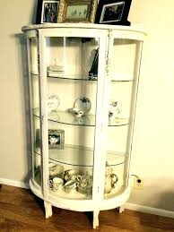 small curio cabinet with glass doors small curio cabinet fashionable wall