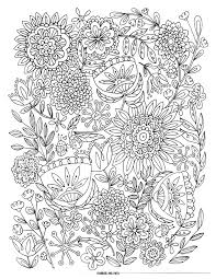 love bugs and flowers coloring page