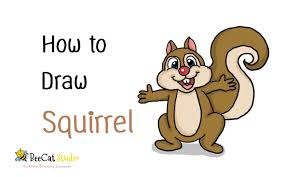 Small Picture How to draw a cute cartoon Squirrel YouTube