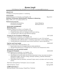 Gpa On Resume Example Examples Of Resumes