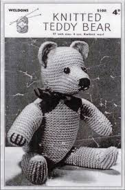 Free Knitting Patterns To Download Custom Weldons Teddy Bear Free Vintage Knitting Pattern Buttons And Beeswax