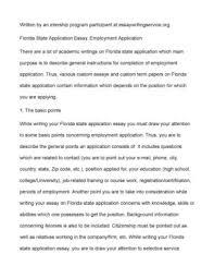 University Application Essay Florida University Application Essay Custom Law Essay