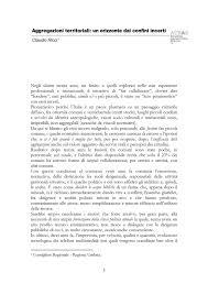 Saggio Breve Saggio Breve Sulle Aggregazioni Territoriali Claudio Ricci