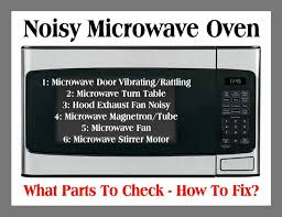 noisy microwave oven what parts to