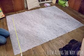 how to make faux fur rug with underlay