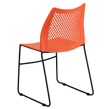 stacked chairs clipart. Contemporary Clipart Capacity Orange Sled Base Stack Chair With AirVent  And Stacked Chairs Clipart I