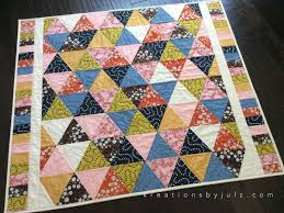 Equilateral Triangle Quilt - Kreations by Julz & kreationsbyjulz.com Adamdwight.com