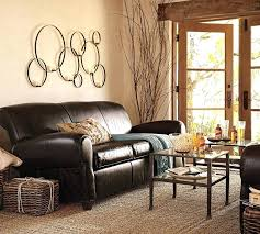 furniture s living room theme with beige wall paint and brown leather sofa