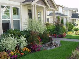 All Images Outdoor Garden Small Front Yard Landscaping Ideas With Gravel  Best About Design Sweet Flowers And Green Grass For Home Plants Unique Flower  Bed ...