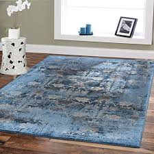 Premium Soft 8x11 Modern Rugs For Dining Room Blue Beige Brown Ivory Navy Floral