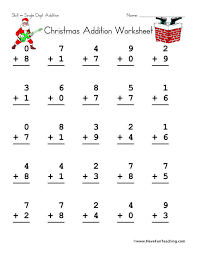 Christmas Single Digit Addition Worksheet - Have Fun Learning