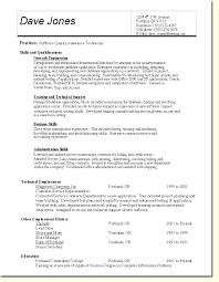 Quality Assurance Resume Templates Qa Resume Templates Simple Qa