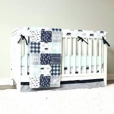 image 0 blue and gray crib bedding grey baby boy set mint bear navy gray and blue mod crib rail cover bedding elephant