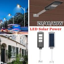 Pole Mounted Solar Light Us 19 36 40 Off Led Sensor Solar Panel Power Wall Street Light 20 40 60w Pir Motion Lamp Waterproof Ip67 50cm Mounting Pole For Outdoor Lighting In
