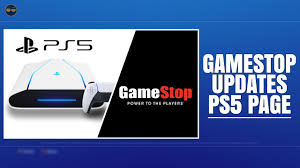 PLAYSTATION 5 ( PS5 ) - GAMESTOP UPDATES PS5 PAGE ! - YouTube