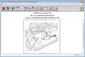 daewoo nubira crankshaft position sensor location diagram wiring
