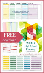 Planner Printables For Students Middle And High School Planner Printables For Homeschool