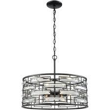 elk lighting lineo 20 6 light clear crystal chandelier in matte black