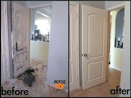 wood interior doors with white trim. Painting Oak Trim White Before And After Gallery Of . Wood Interior Doors With O