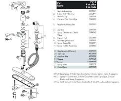 lofty glacier bay faucets parts list kitchen sink faucet repair amazing diagram carmina