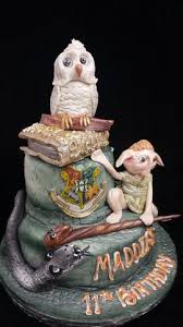 Two Tier Harry Potter Birthday Cake With Owl Celticcakescom