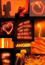 Orange aesthetic, Neon orange ...