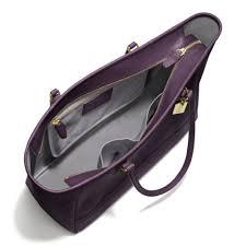 ... Coach Coach Medium City Tote in Saffiano Leather in Purple Lyst .