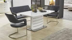 Tischgruppe Bernd Beate Tokio Bank Stuhl Tisch In Weiß Hochglanz Grau