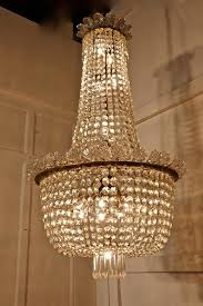 faceted 19th century french empire style tent and bag crystal chandelier for