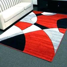 modern red rug black white red rug red and white area rug black white red rug