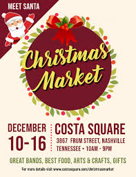 Art Event Flyer Christmas Market Open Event Flyer Design Template Postermywall
