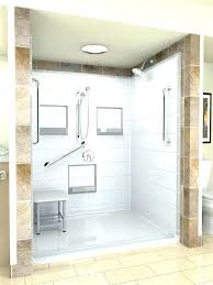 shower insert vs tile fiberglass shower stalls