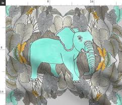 blue elephants in my garden