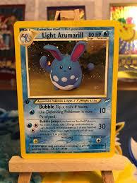 Light Azumarill Holo Light Azumarill 1st Edition Rare Holo 13 105 Neo Destiny Pokemon Kort
