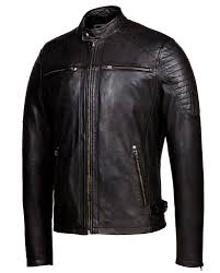 vintage black corbani racer leather jacket with quilt