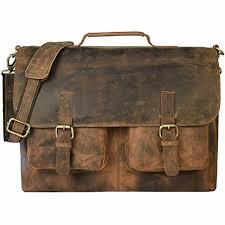 16 inch vintage handmade leather messenger bag laptop briefcase best computer