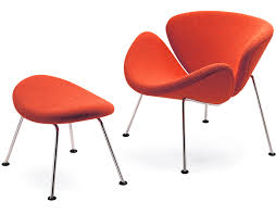 orange slice chair ottoman