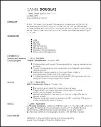 Performance Resume Extraordinary Performance Resume Template Free Creative Dancer Resume Template