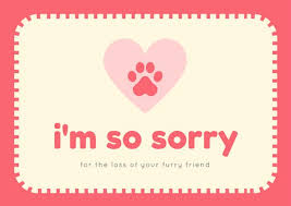 Card For Loss Of Pet Blue Dog Sick Pet Sympathy Card Templates By Canva