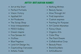 1500 cool art usernames ideas for your