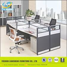 modern office partition. fashion design office partition glass wall, modern desk dividers, fancy 4 seater
